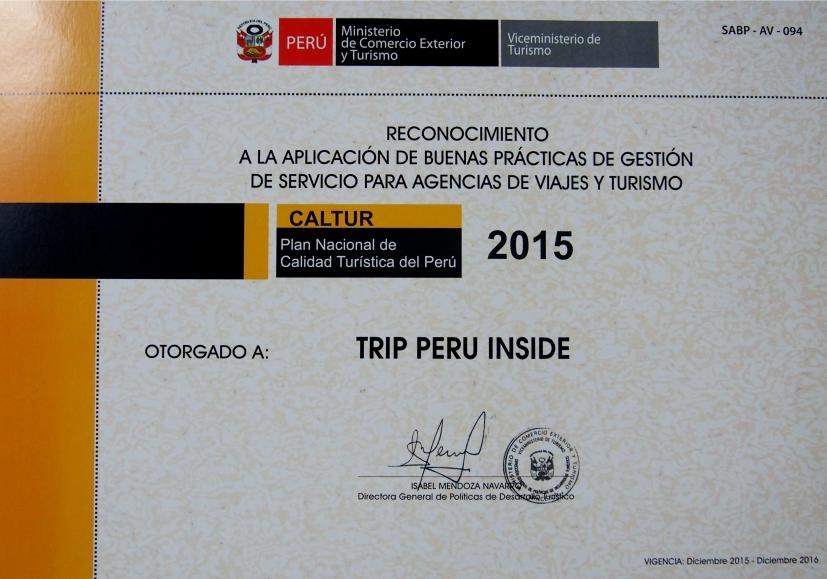 CALTUR TRIP PERU