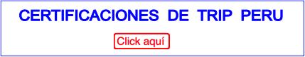 Certificaciones con TRIP PERU
