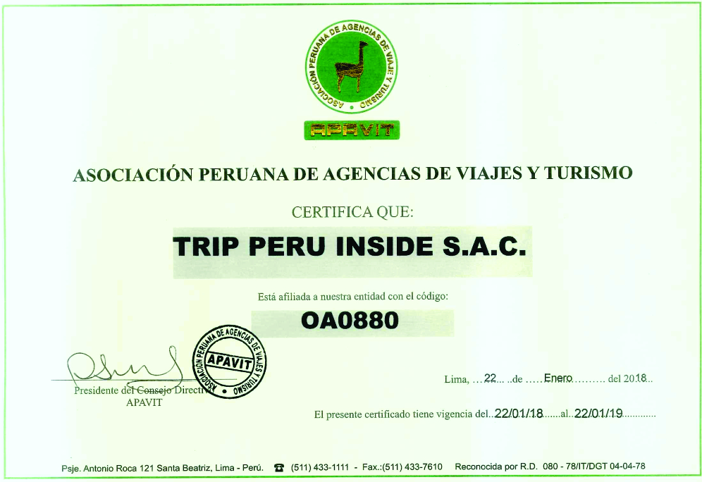 APAVIT con Trip Peru