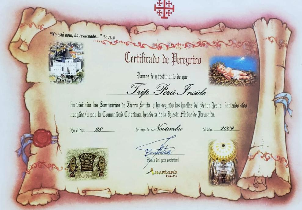 Certificado de Israel
